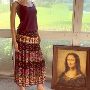 Lovely Carole Little Broomstick Skirt France Paris